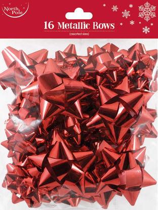 Red Metallic Bows