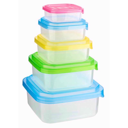 Storage Box with Colourful Lid