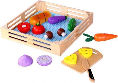 Wooden Cutting Vegetables Set