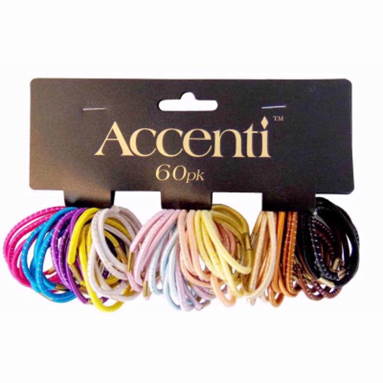 Picture of Accenti Hair Bands 60 Coloured