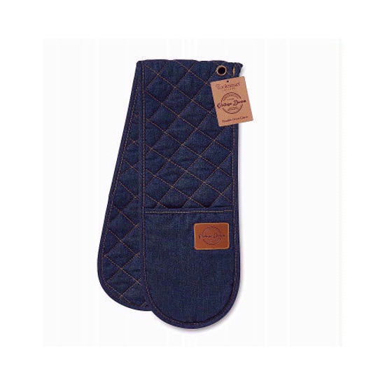 Picture of Cooksmart Double Oven Glove Oxford Denim