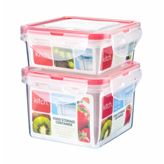Picture of Kitch 2 Square Containers 250ml & 400ml