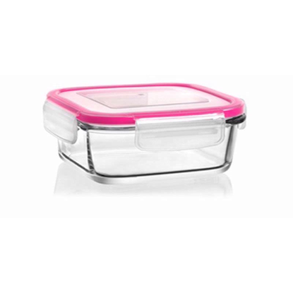 Picture of Lav Glass Container And Lock Lid 400cc