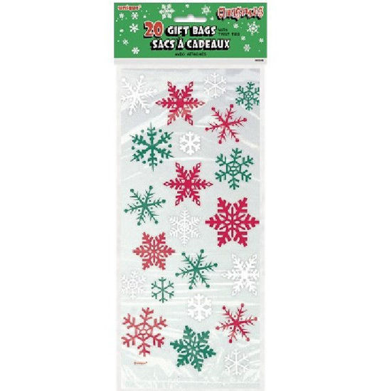 SNOWFLAKE RED/GREEN CELLOBAGS