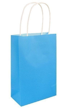 Neon Blue Gift Bag with Handle