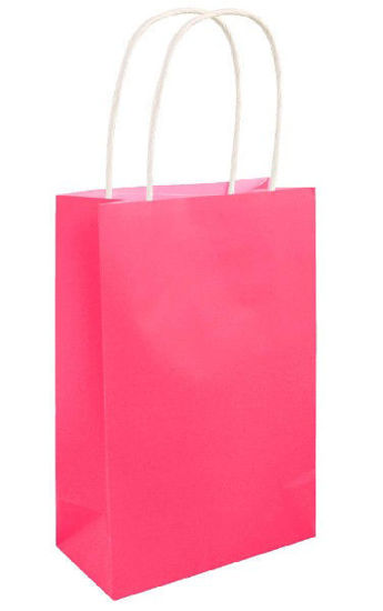 Neon Pink Gift Bag with Handle