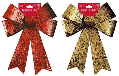 Reversible Red and Gold Bow