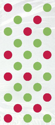 Red/Green Dots Cello Bags