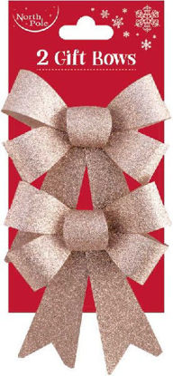 Rose Gold Glitter Bows