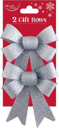 Silver Glitter Bows