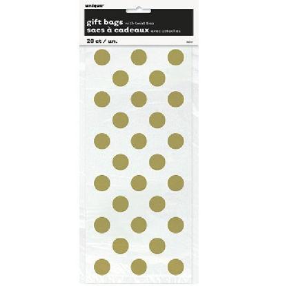 Gold Dots Cello Bags
