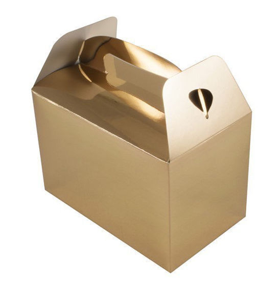 Metallic Gold Party Boxes