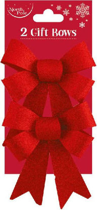 Red Glitter Bows