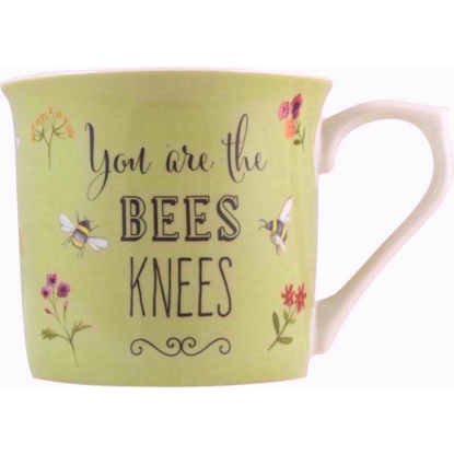 Bee Happy Fine China Mug (Green)