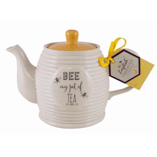 Bee Happy Tea Pot