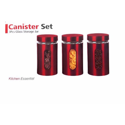 Canisters Set 3 Piece - Red