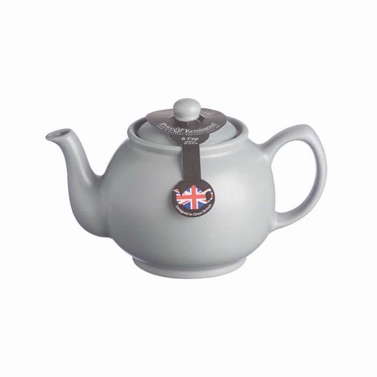 Price & Kensington Matt Grey 6 Cup Teapot